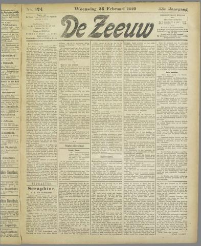De Zeeuw. Christelijk-historisch nieuwsblad voor Zeeland 1919-02-26