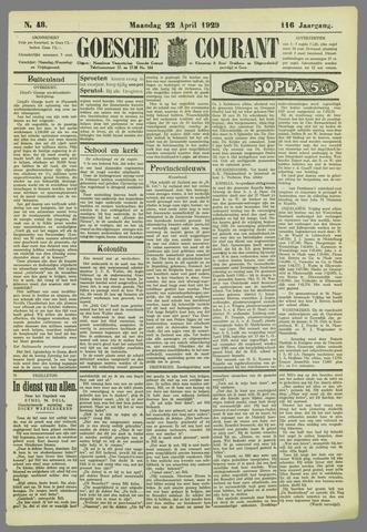Goessche Courant 1929-04-22