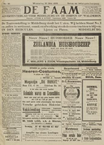 de Faam en de Faam/de Vlissinger 1923-05-30