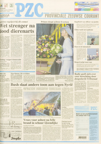 Provinciale Zeeuwse Courant 2003-04-22