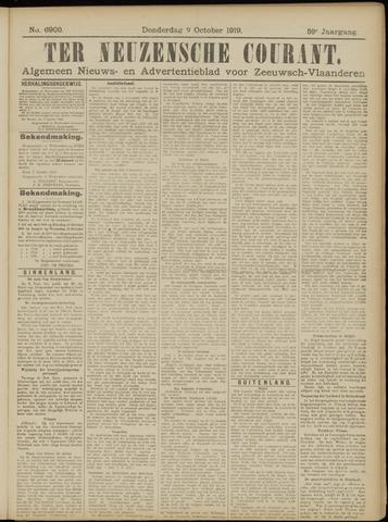 Ter Neuzensche Courant. Algemeen Nieuws- en Advertentieblad voor Zeeuwsch-Vlaanderen / Neuzensche Courant ... (idem) / (Algemeen) nieuws en advertentieblad voor Zeeuwsch-Vlaanderen 1919-10-09