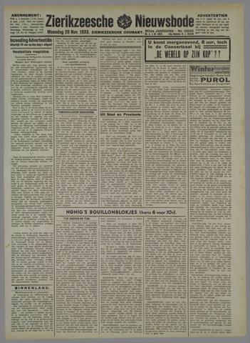 Zierikzeesche Nieuwsbode 1933-11-20