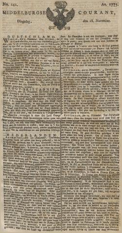 Middelburgsche Courant 1775-11-28