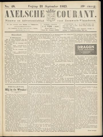 Axelsche Courant 1923-09-21