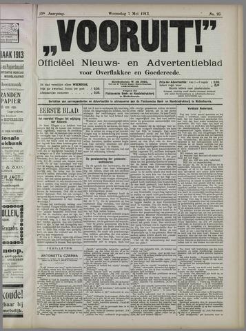 """""""Vooruit!""""Officieel Nieuws- en Advertentieblad voor Overflakkee en Goedereede 1913-05-07"""