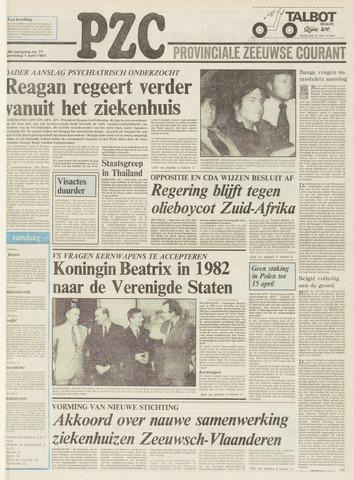 Provinciale Zeeuwse Courant 1981-04-01