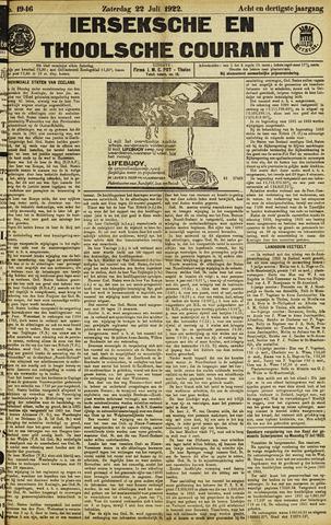 Ierseksche en Thoolsche Courant 1922-07-22