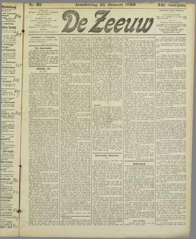 De Zeeuw. Christelijk-historisch nieuwsblad voor Zeeland 1920-01-22