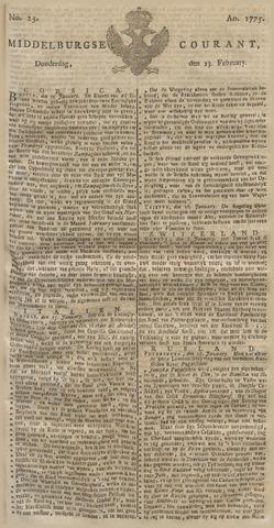 Middelburgsche Courant 1775-02-23