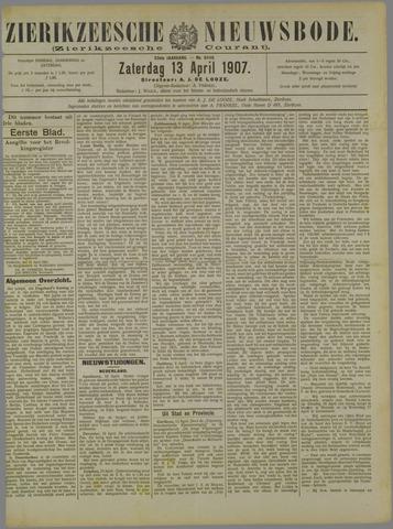 Zierikzeesche Nieuwsbode 1907-04-13