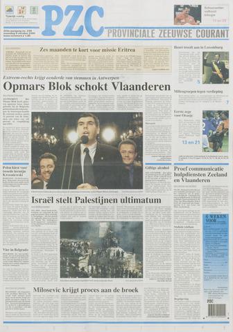 Provinciale Zeeuwse Courant 2000-10-09