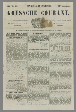 Goessche Courant 1867-08-27