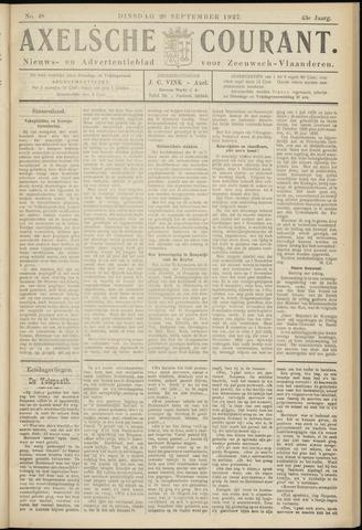 Axelsche Courant 1927-09-20