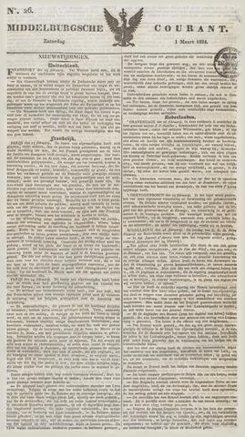 Middelburgsche Courant 1834-03-01