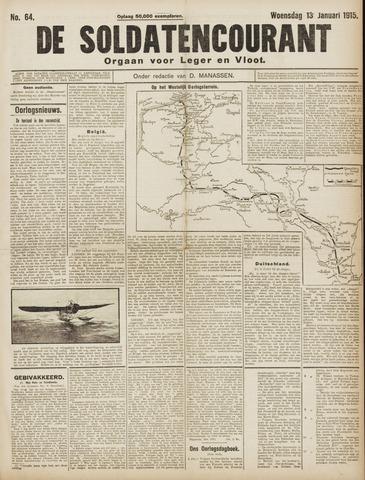 De Soldatencourant. Orgaan voor Leger en Vloot 1915-01-13
