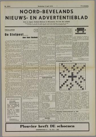 Noord-Bevelands Nieuws- en advertentieblad 1974-04-11