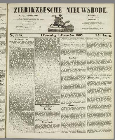 Zierikzeesche Nieuwsbode 1865-11-01