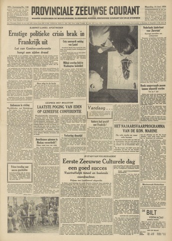Provinciale Zeeuwse Courant 1954-06-14