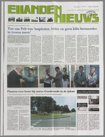 Eilanden-nieuws. Christelijk streekblad op gereformeerde grondslag 2007-08-31