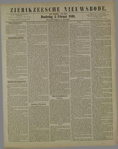 Zierikzeesche Nieuwsbode 1891-02-05