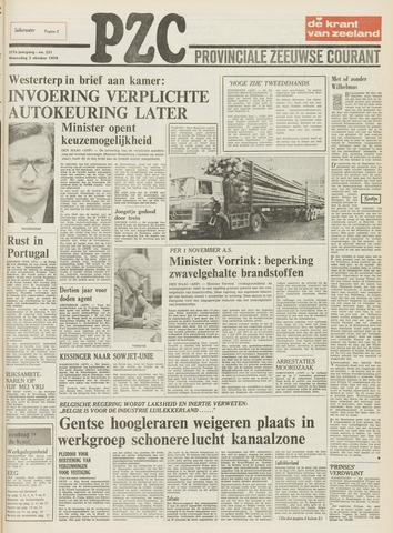 Provinciale Zeeuwse Courant 1974-10-02