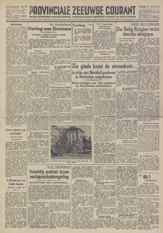 Provinciale Zeeuwse Courant 1948-04-27