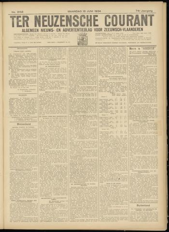 Ter Neuzensche Courant. Algemeen Nieuws- en Advertentieblad voor Zeeuwsch-Vlaanderen / Neuzensche Courant ... (idem) / (Algemeen) nieuws en advertentieblad voor Zeeuwsch-Vlaanderen 1934-06-18