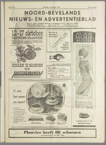 Noord-Bevelands Nieuws- en advertentieblad 1964-10-10