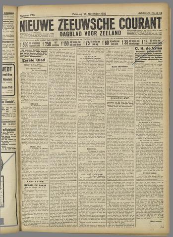 Nieuwe Zeeuwsche Courant 1922-11-25