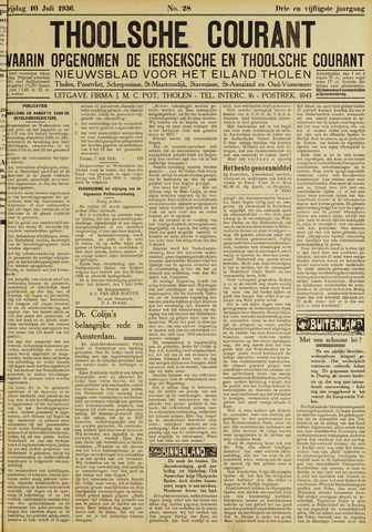 Ierseksche en Thoolsche Courant 1936-07-10