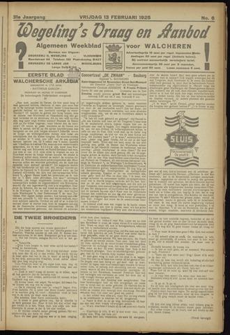 Zeeuwsch Nieuwsblad/Wegeling's Nieuwsblad 1925-02-13