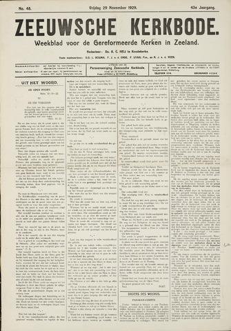 Zeeuwsche kerkbode, weekblad gewijd aan de belangen der gereformeerde kerken/ Zeeuwsch kerkblad 1929-11-29