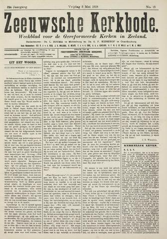 Zeeuwsche kerkbode, weekblad gewijd aan de belangen der gereformeerde kerken/ Zeeuwsch kerkblad 1918-05-03