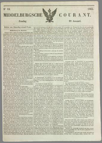 Middelburgsche Courant 1865-01-22