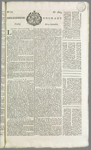Zierikzeesche Courant 1814-09-09