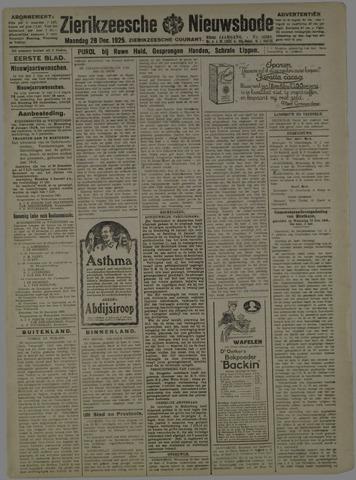 Zierikzeesche Nieuwsbode 1925-12-28