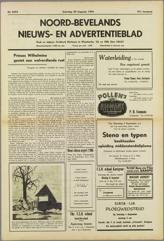 Noord-Bevelands Nieuws- en advertentieblad 1954-08-28