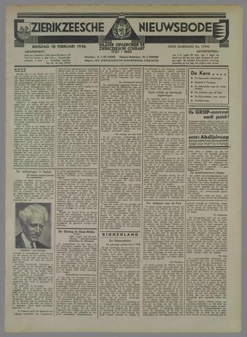 Zierikzeesche Nieuwsbode 1936-02-18