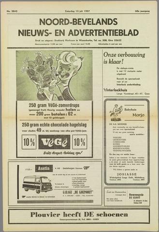 Noord-Bevelands Nieuws- en advertentieblad 1957-07-13