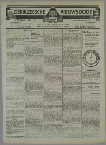 Zierikzeesche Nieuwsbode 1937-07-07