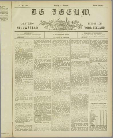 De Zeeuw. Christelijk-historisch nieuwsblad voor Zeeland 1895-11-05