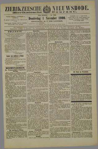 Zierikzeesche Nieuwsbode 1900-11-01
