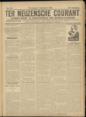 Ter Neuzensche Courant. Algemeen Nieuws- en Advertentieblad voor Zeeuwsch-Vlaanderen / Neuzensche Courant ... (idem) / (Algemeen) nieuws en advertentieblad voor Zeeuwsch-Vlaanderen 1927-09-14