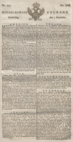 Middelburgsche Courant 1768-09-01