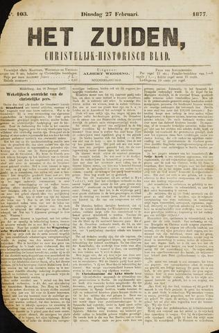 Het Zuiden, Christelijk-historisch blad 1877-02-27