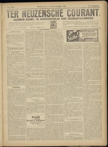 Ter Neuzensche Courant. Algemeen Nieuws- en Advertentieblad voor Zeeuwsch-Vlaanderen / Neuzensche Courant ... (idem) / (Algemeen) nieuws en advertentieblad voor Zeeuwsch-Vlaanderen 1931-09-16