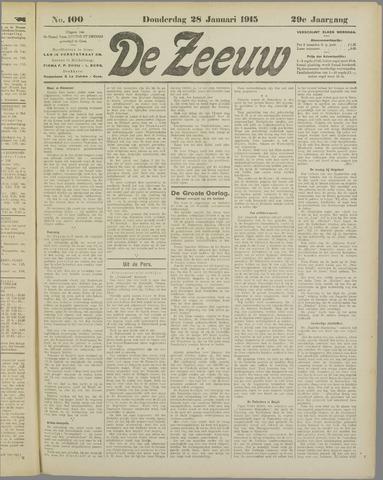 De Zeeuw. Christelijk-historisch nieuwsblad voor Zeeland 1915-01-28