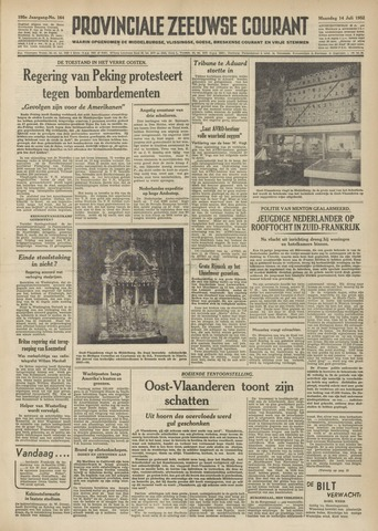 Provinciale Zeeuwse Courant 1952-07-14