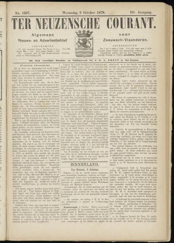 Ter Neuzensche Courant. Algemeen Nieuws- en Advertentieblad voor Zeeuwsch-Vlaanderen / Neuzensche Courant ... (idem) / (Algemeen) nieuws en advertentieblad voor Zeeuwsch-Vlaanderen 1878-10-09