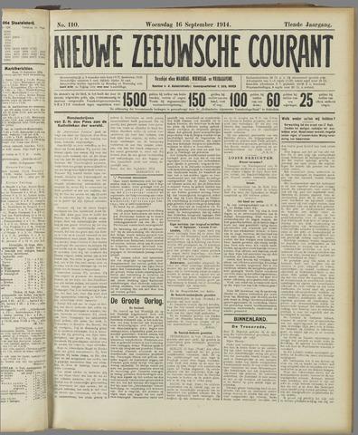 Nieuwe Zeeuwsche Courant 1914-09-16